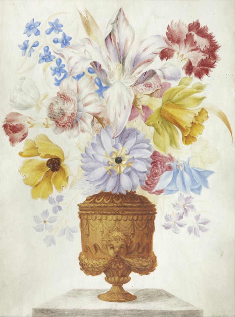 Lorenzo Todini Still Life of Flowers in a Vase