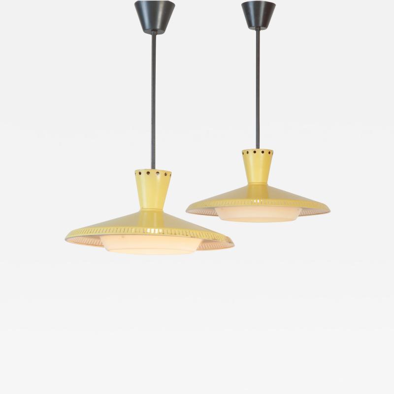Louis Christiaan Kalff 2 Louis Kalff NB93 Ceiling Lamps 60s