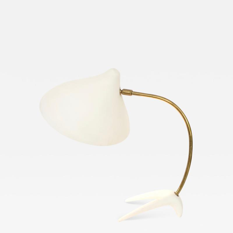 Louis Christiaan Kalff Louis Kalff Diabolo White Metal and Brass Table Lamp for Philips