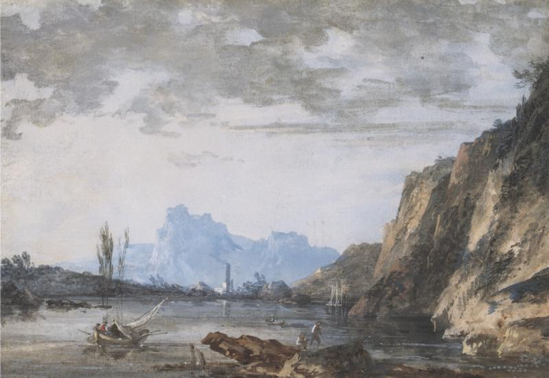 Louis Gabriel Moreau Landscape with a Lake