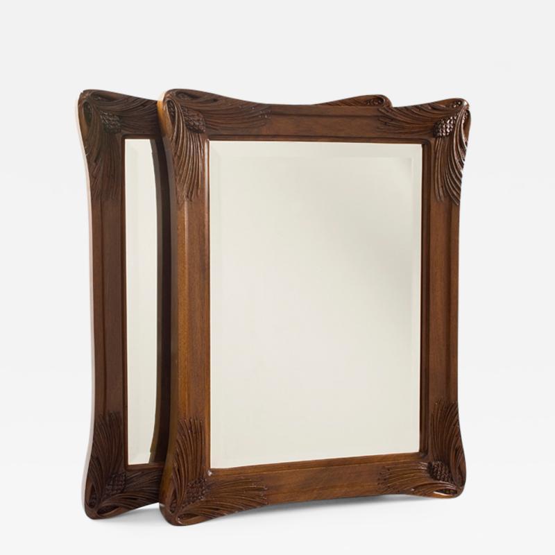 Louis Majorelle Pair of French Art Nouveau Mirrors