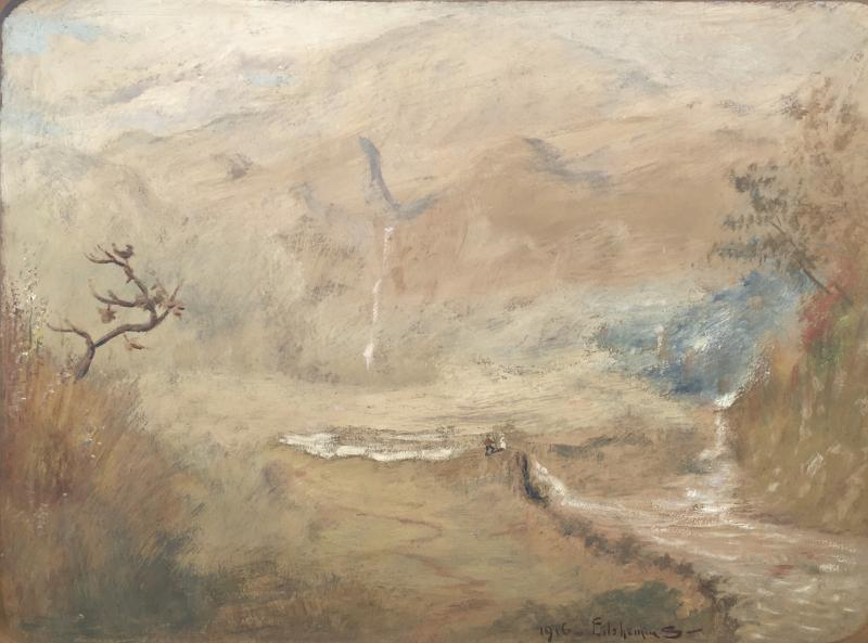 Louis Michel Eilshemius Couple Observing a Waterfall