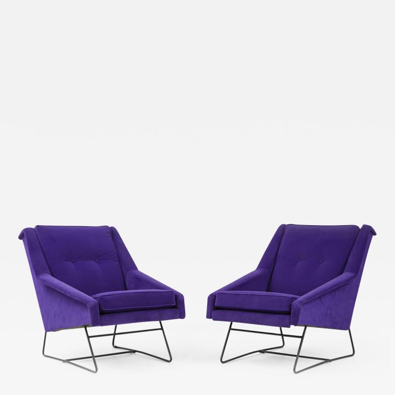 Louis Paolozzi Pair of Armchairs by Louis Paolozzi