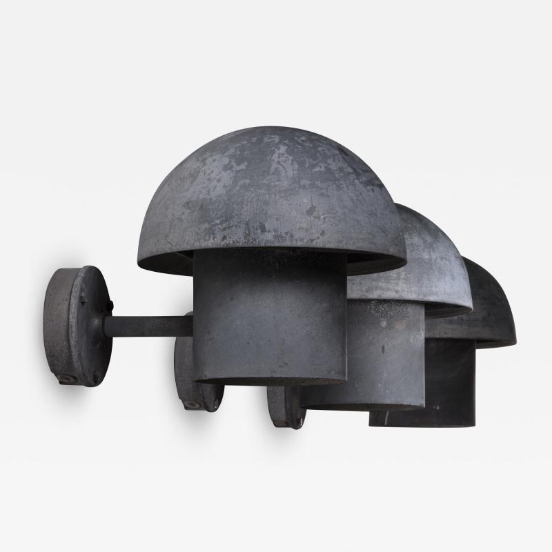 Louis Poulsen Bjarne Bech set of 6 steel wall lamps for Louis Poulsen