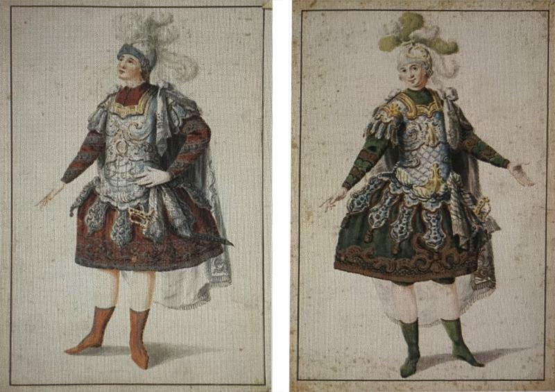Louis Rene Boquet Pair of Designs for Ballet Costumes