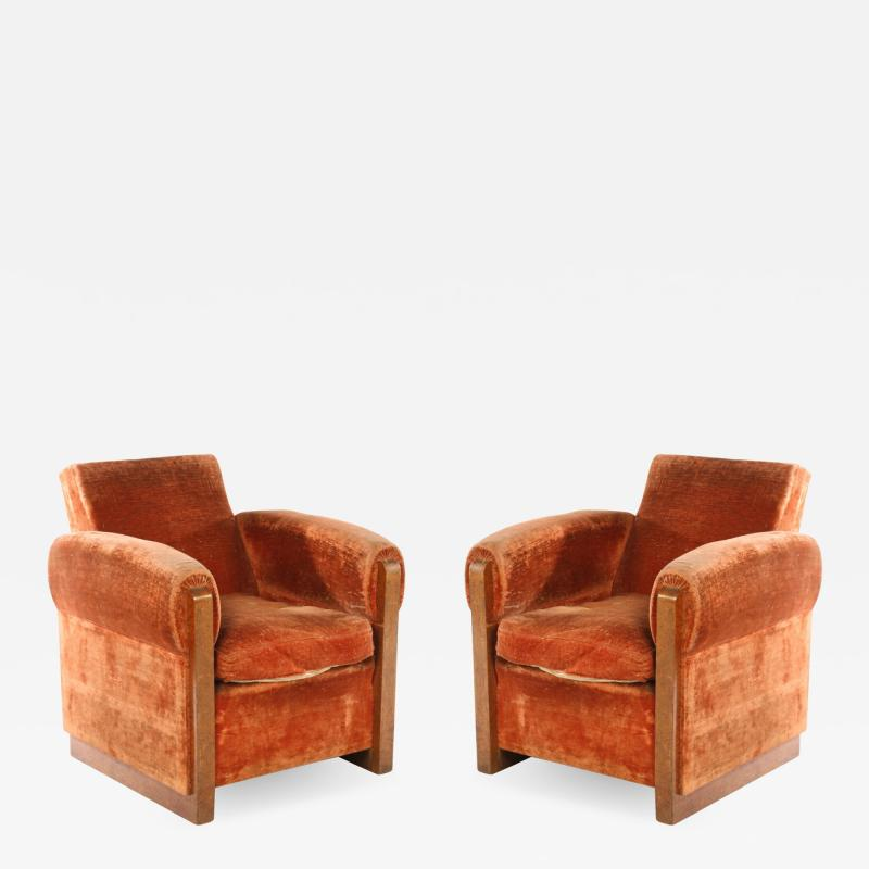 Louis Sognot Louis Sognot Pair of Modernist Club Chairs