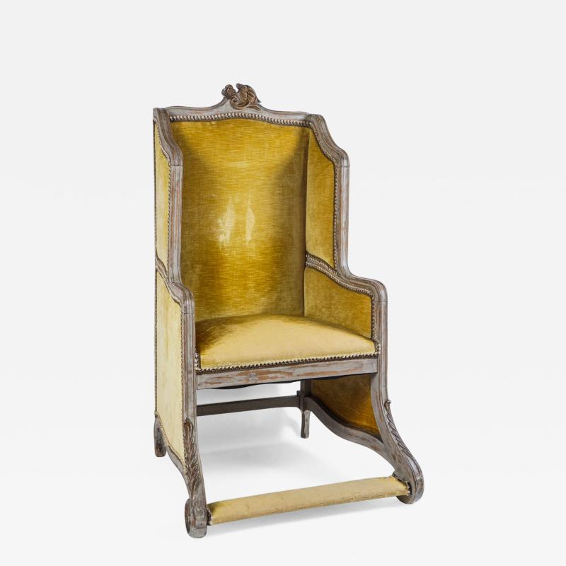 Louis XV Style Bergere or Armchair of Unusual Form France circa 1890