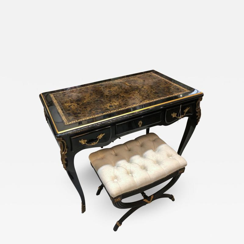 Louis XV Style Desk Secretary with Neoclassical Stool