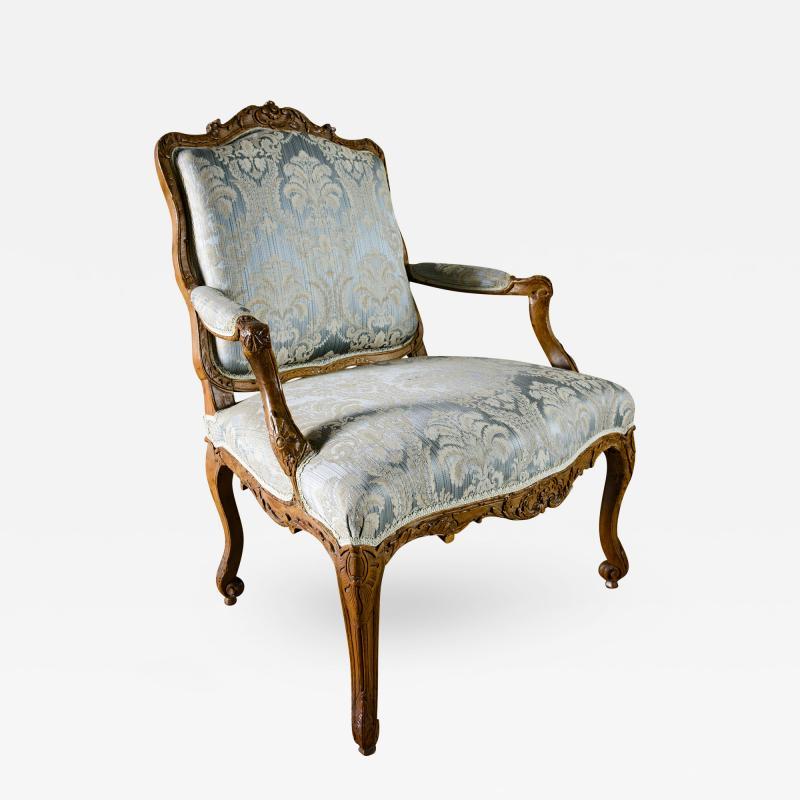 Louis XV Walnut Fauteuil