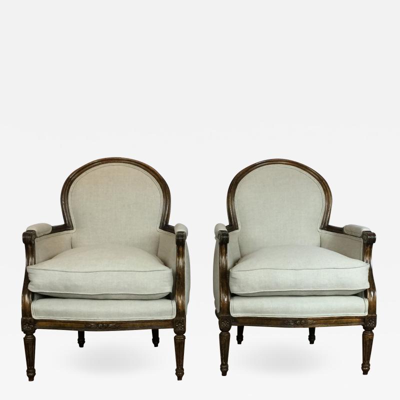 Louis XVI Style Club Chairs