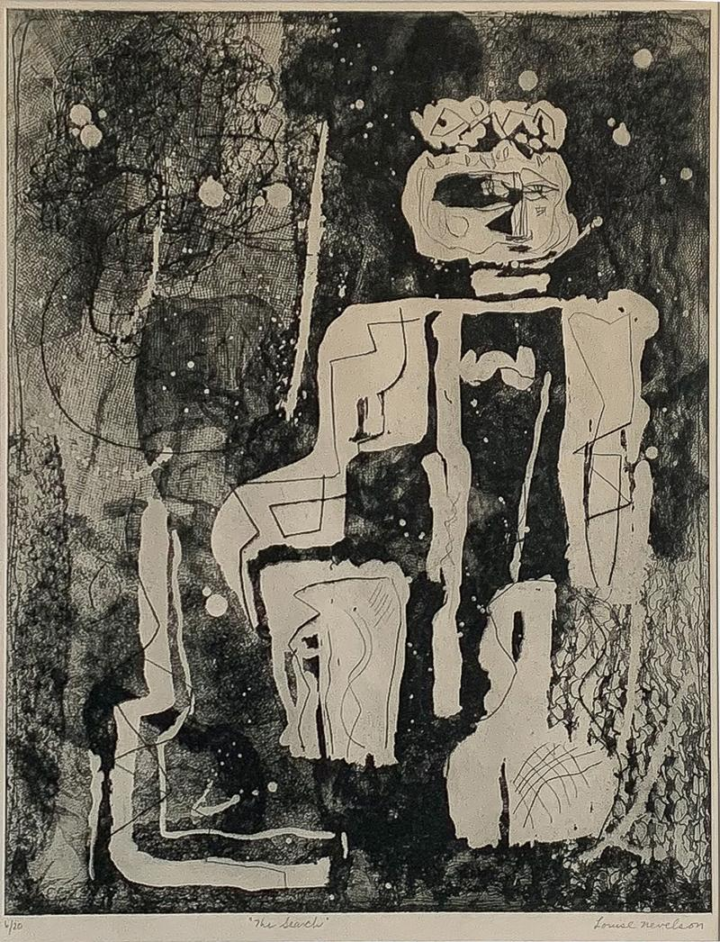Louise Nevelson Louise Nevelson Framed Etching The Search 1953 1955