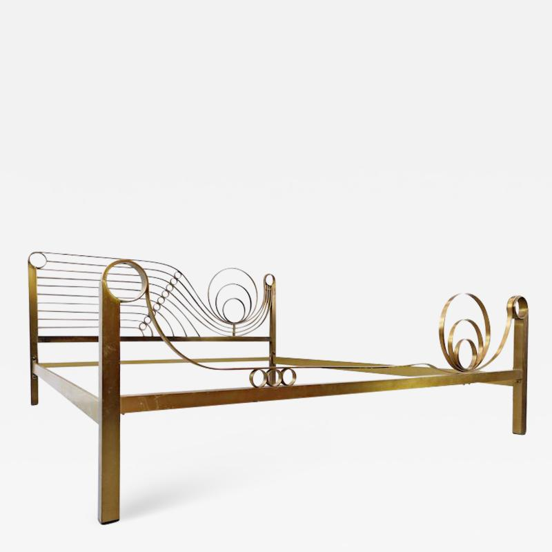 Luciano Frigerio Brass Bed by Luciano Frigerio Waves