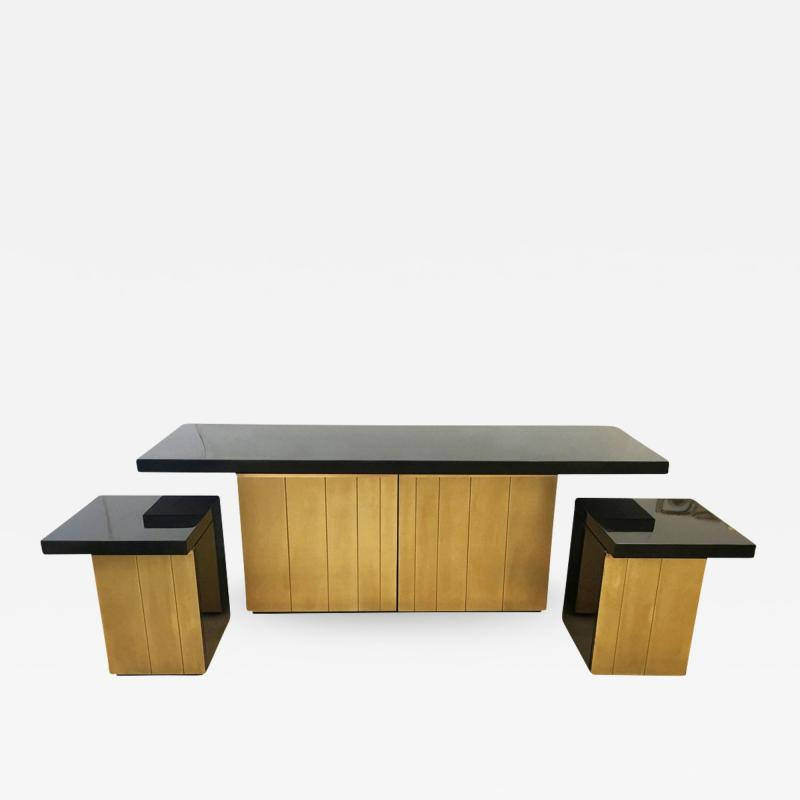 Luciano Frigerio Console Cabinet Set Italy 1960s