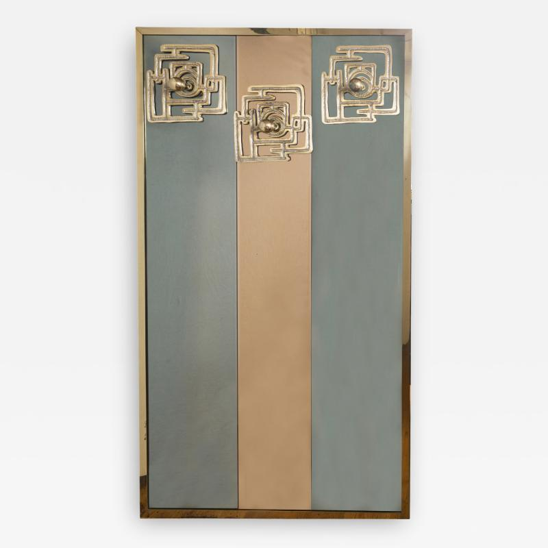 Luciano Frigerio Vintage Brass Bronze Mirror By Luciano Frigerio