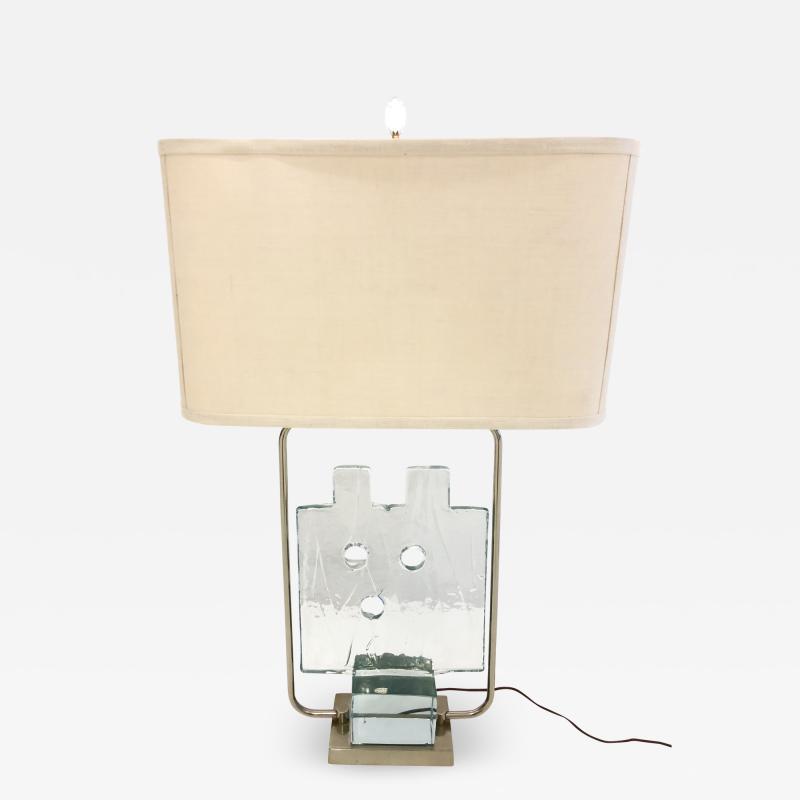 Luciano Gaspari Luciano Gaspari Glass Sculpture on Custom Lamp Pedestal