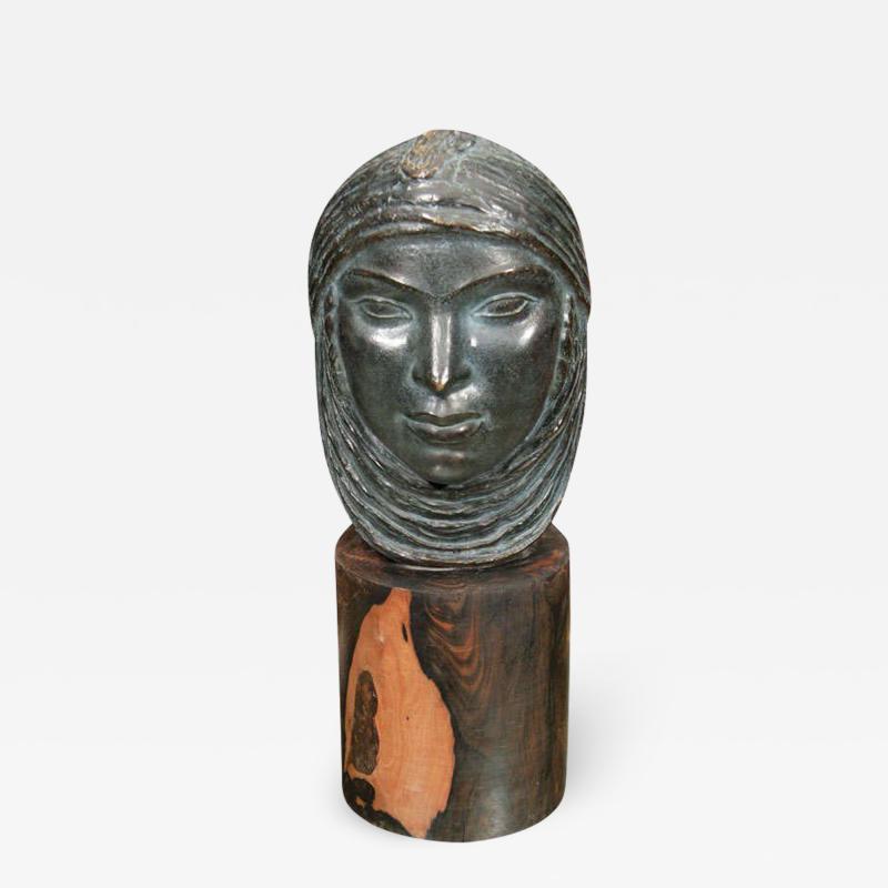 Lucien Gibert Very nice Algerian Head by Lucien Gibert