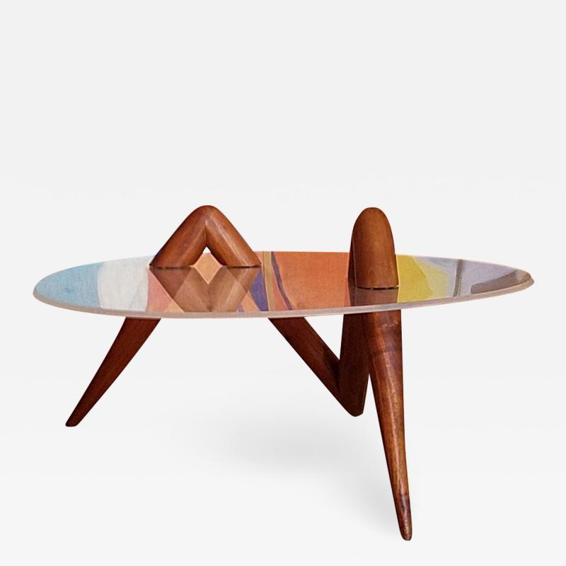 Lucite Coffee Table Carlsbad Studio 1970s