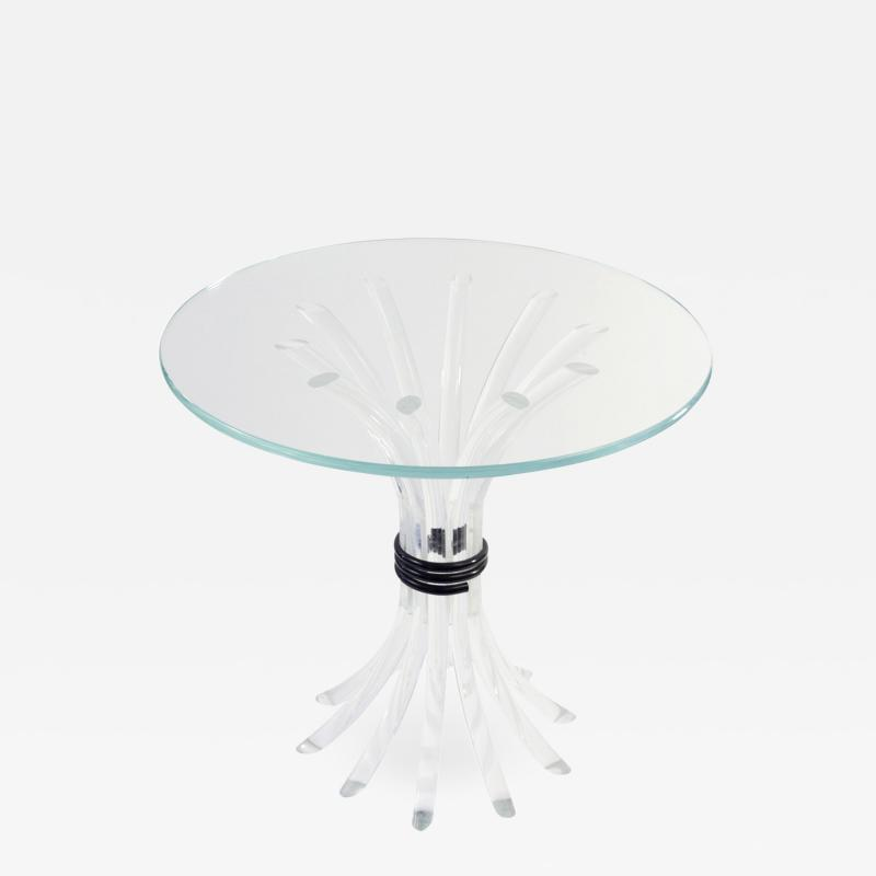 Lucite Reed Side Table