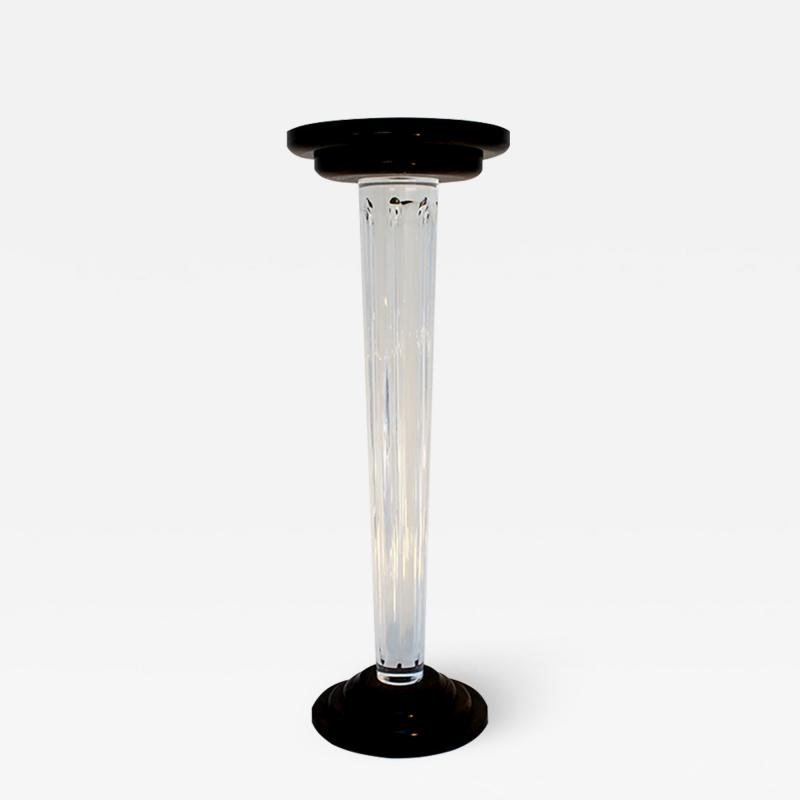 Lucite and Wood Column Old Acropoli