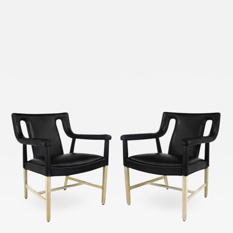 Ludvig Pontoppidan Pair of Black Leather Ejner Larsen and Aksel Bender Madsen Lounge Chair LP48