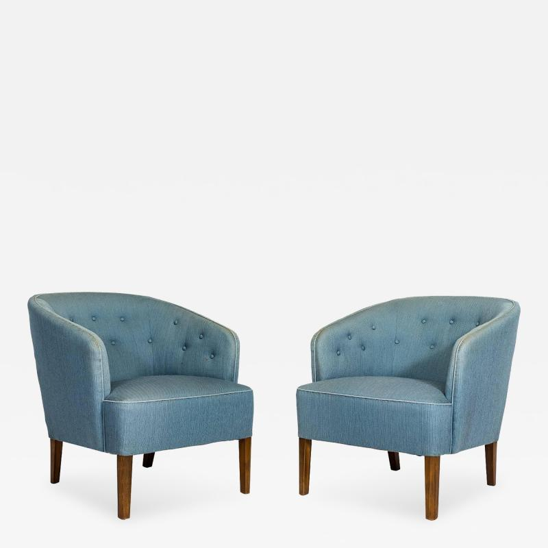 Ludvig Pontoppidan Pair of Ludvig Pontoppidan Lounge Chairs