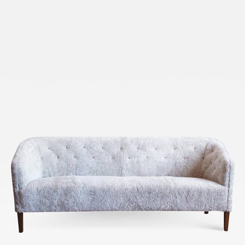Ludvig Pontoppidan Three Seat Shearling Sofa by Ludvig Pontoppidan