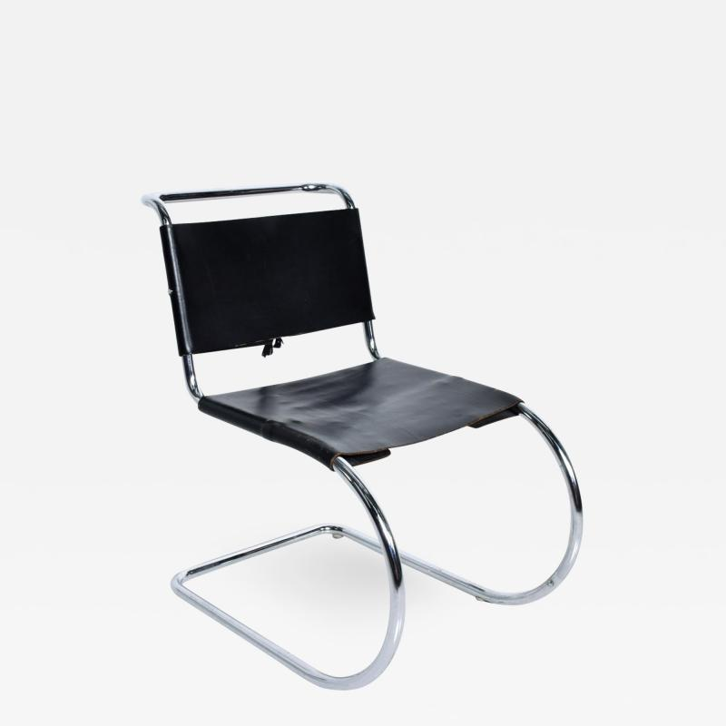 Ludwig Mies Van Der Rohe Knoll Ludwig Mies van der Rohe MR Chair Tubular Chrome Leather Chair