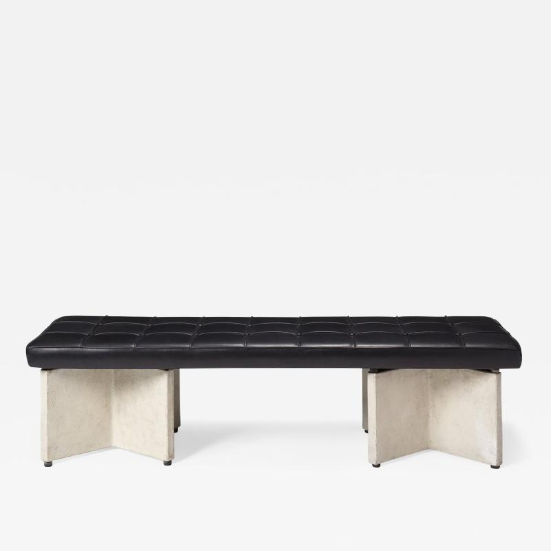 Ludwig Mies Van Der Rohe LUDWIG MIES VAN DER ROHE CONCRETE AND LEATHER BENCH
