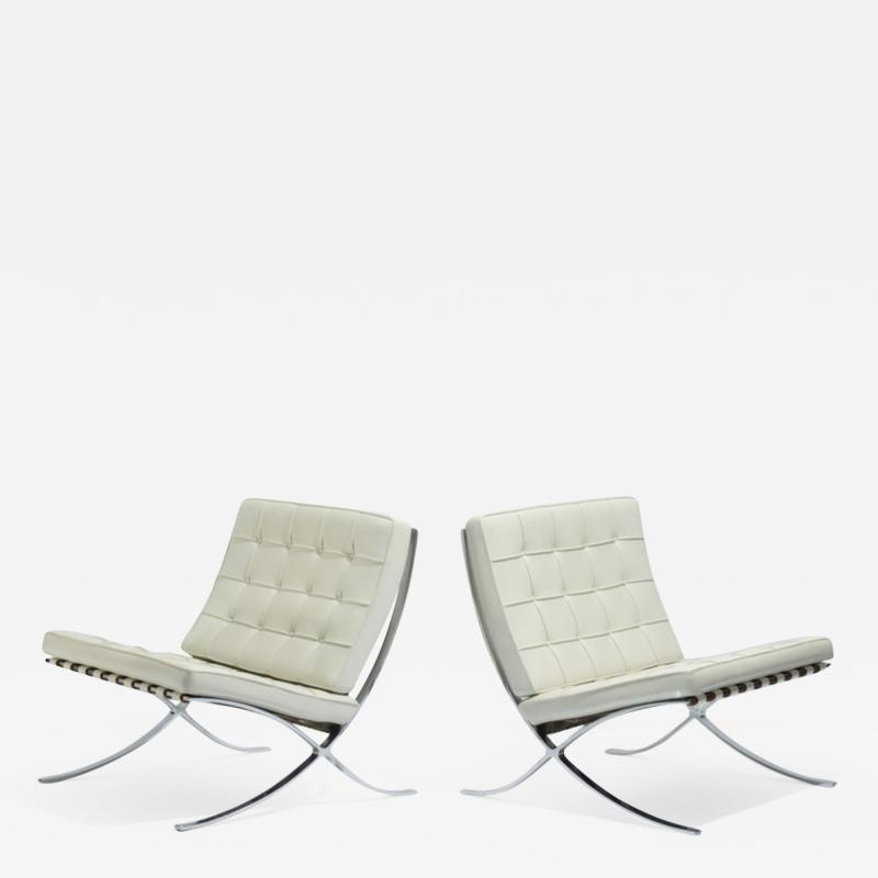 Ludwig Mies Van Der Rohe Ludwig Mies van der Rohe Barcelona Pair of Chairs