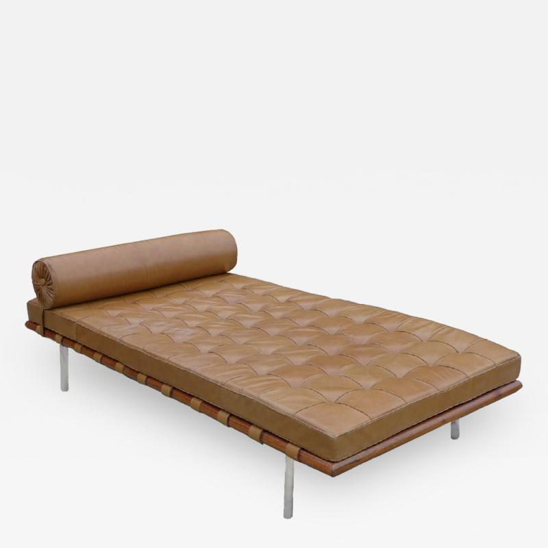 Ludwig Mies Van Der Rohe Mies Van Der Rohe Knoll Tan Leather Rosewood Barcelona Daybed