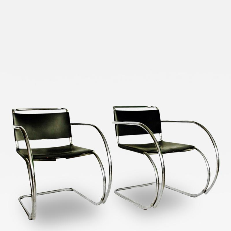 Ludwig Mies Van Der Rohe Pair Of Mr 20 Lounge Chairs