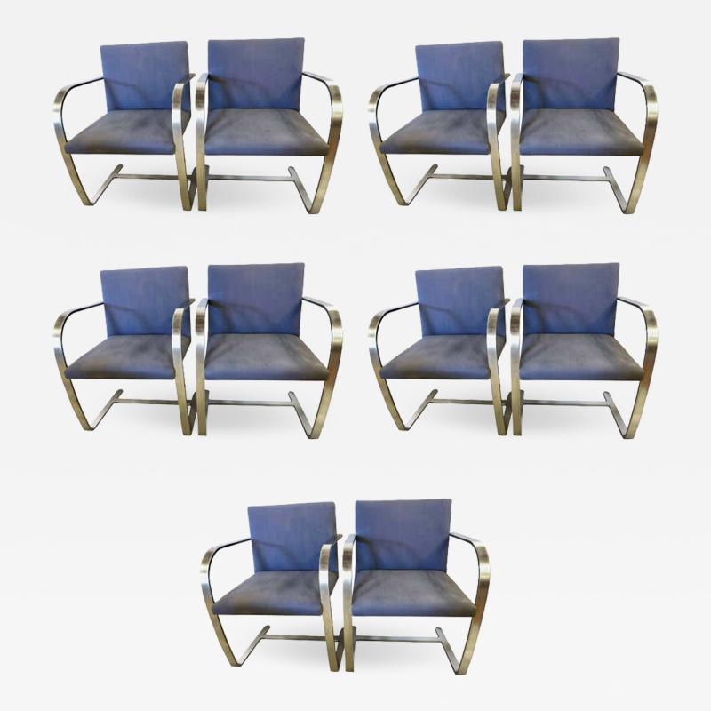 Ludwig Mies Van Der Rohe Rare Set of Ten Mies van der Rohe Dining Chairs for Knoll