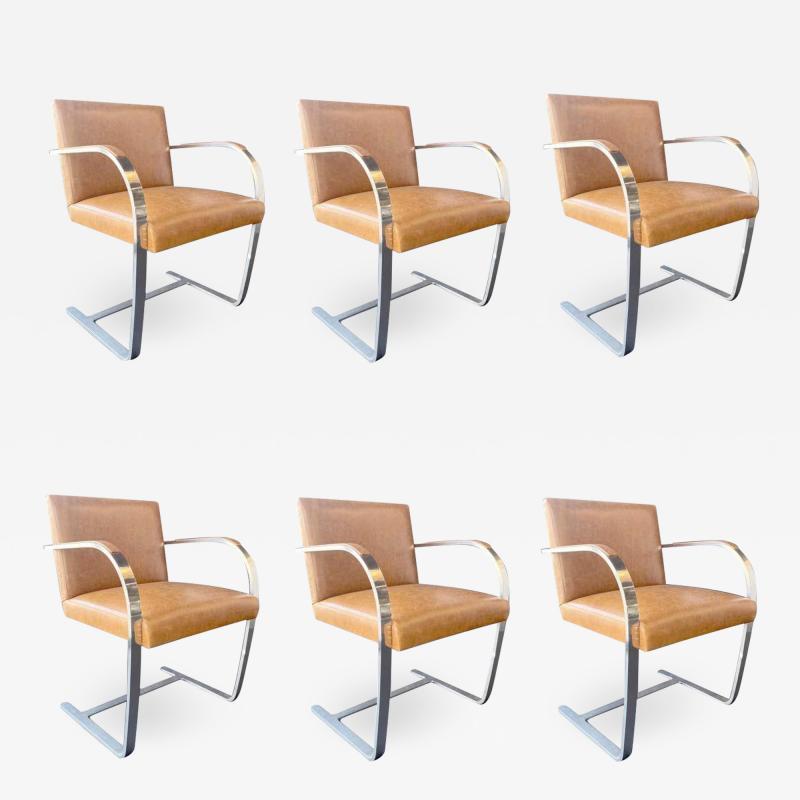 Ludwig Mies Van Der Rohe Set of Six Brno Chairs by Mies Van Der Rohe