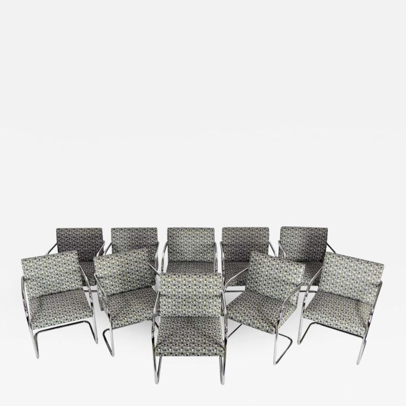 Ludwig Mies Van Der Rohe Set of Ten Tubular Brno Chairs by Knoll