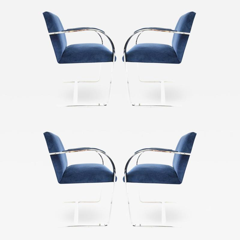 Ludwig Mies Van Der Rohe Stainless Steel Flatbar Brno Chairs by Knoll ONLY FOUR AVAILABLE