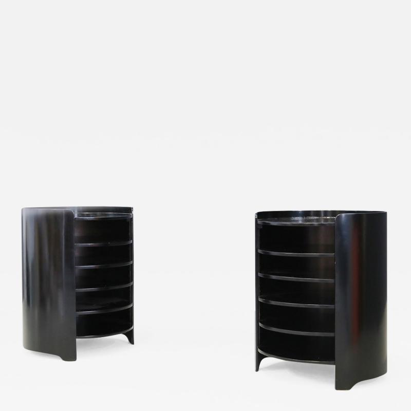 Luigi Caccia Dominioni Luigi Caccia Dominioni Coffee table in black wooden shelves Model Casaccia 1962