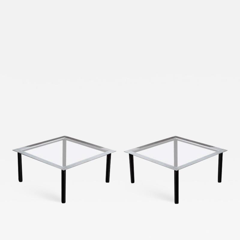 Luigi Caccia Dominioni Set of Two Fasce Cromate Coffee Tables by Luigi Caccia Dominioni for Azucena