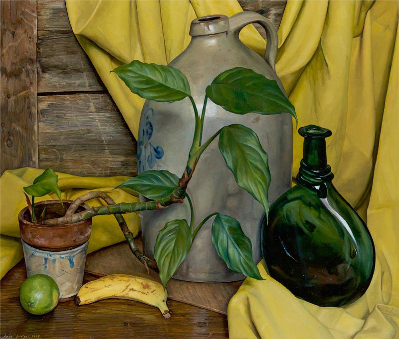 Luigi Lucioni Andante in Yellow and Green 1975