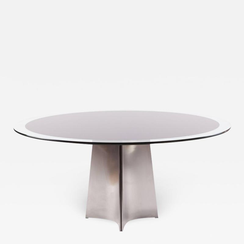 Luigi Saccardo Luigi Saccardo Round Dining Table for Maison Jansen 1970s