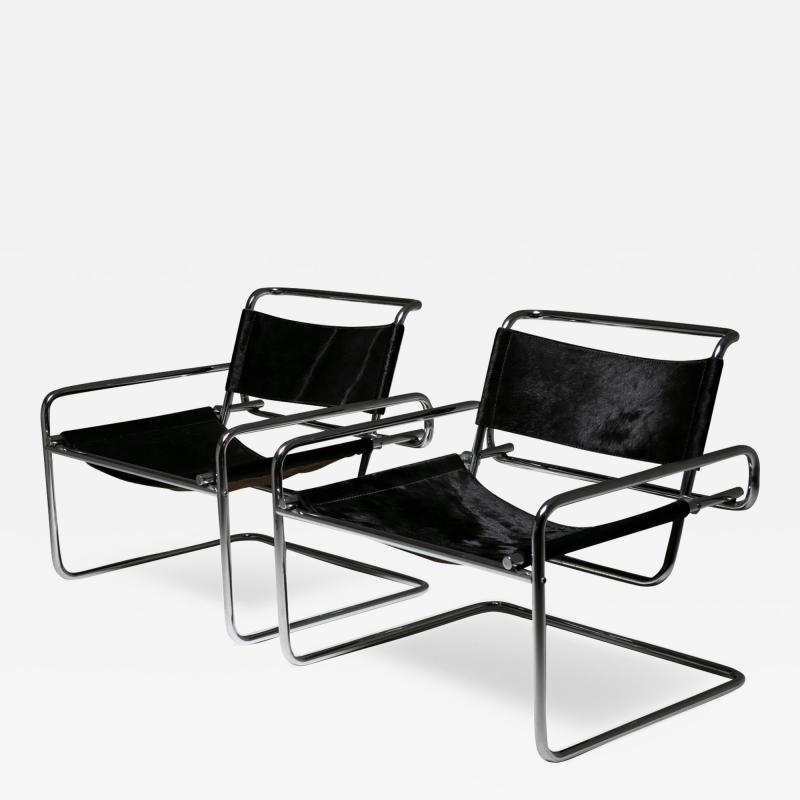 Luigi Saccardo Pair of Cantilever Steel chairs by Luigi Saccardo for Arrmet