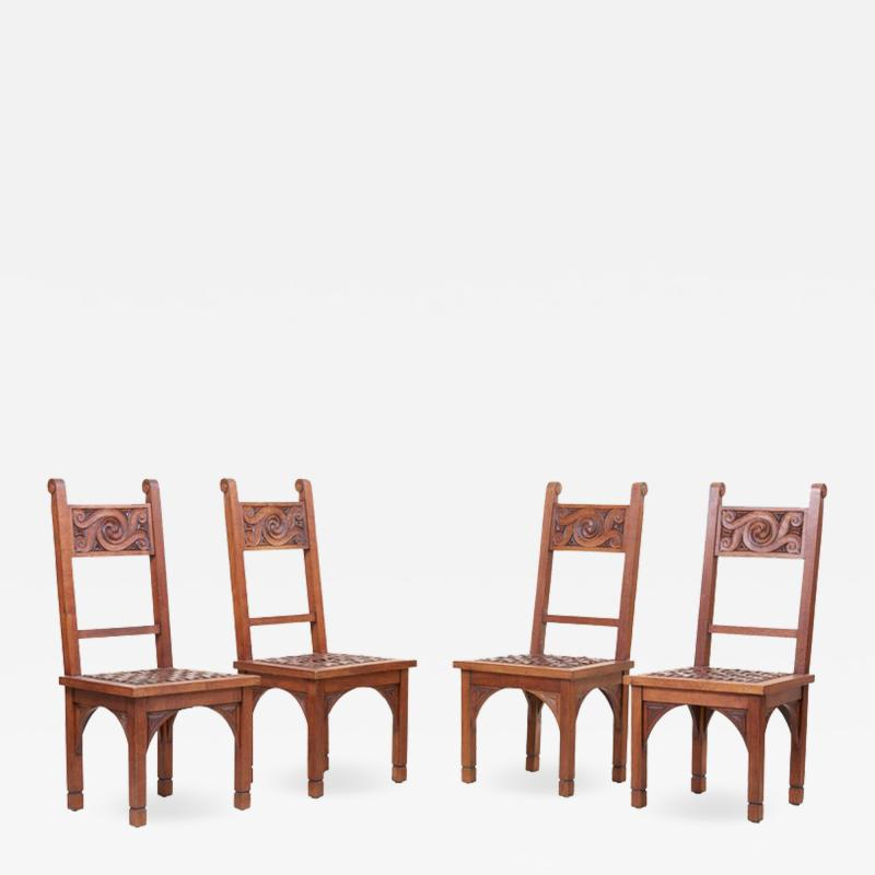 M Jacques Philippe Set of Four Art Deco 1930s Dining Chairs by M Jacques Philippe France