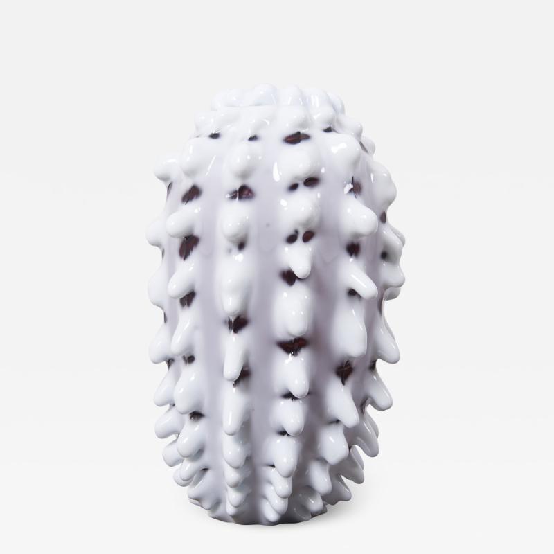 M rten Medbo Huge Spinal Glass Vase by Marten Medbo Sweden