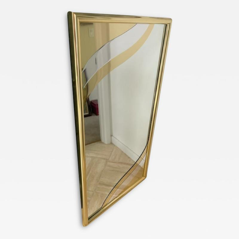 MODERN GOLD METAL DESIGN RECTANGULAR MIRROR