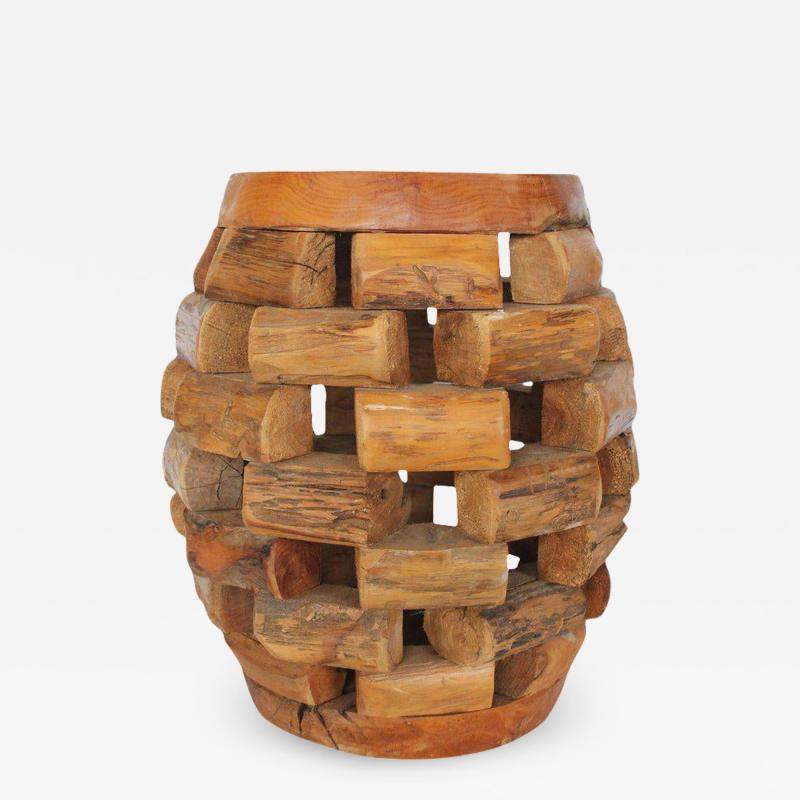 MODERN HANDMADE ACCENT TABLE OR STOOL