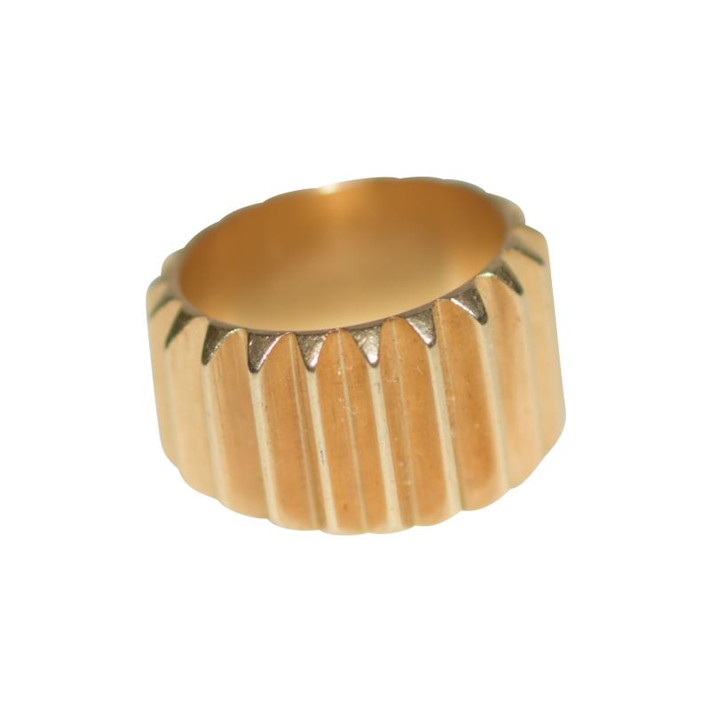 Machine Age Gold Cog Ring