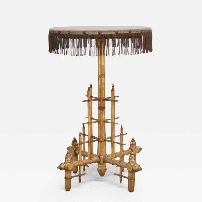 Machine Age Style Giltwood Occasional Table