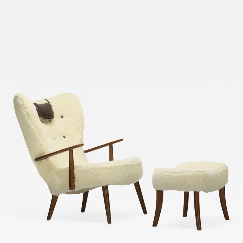 Madsen Sch bel Acton Sch bel and Ib Madsen Pragh lounge chair and ottoman