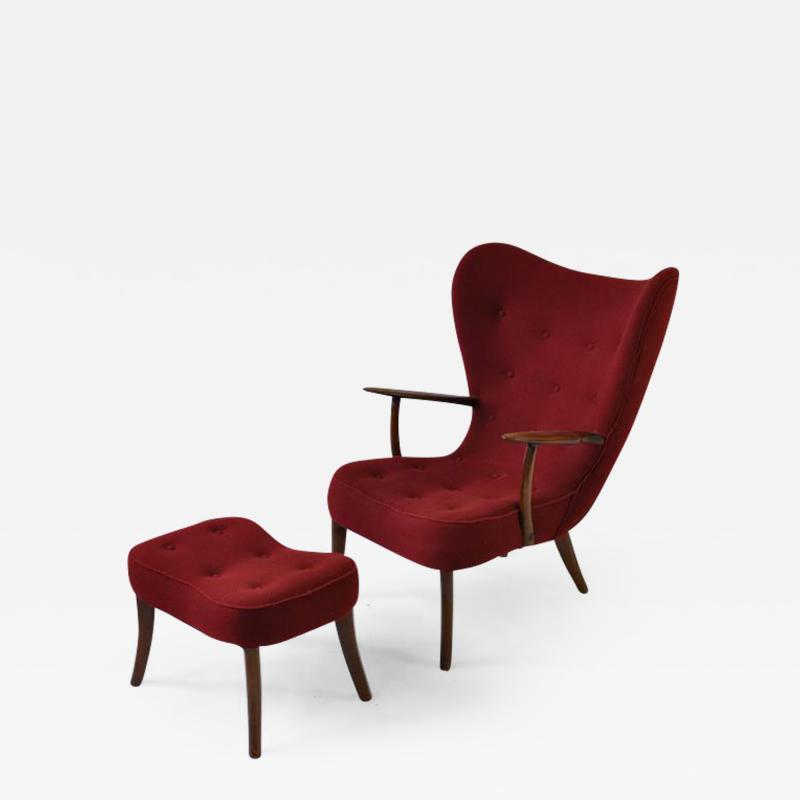 Madsen Sch bel Madsen and Schubell Pragh Lounge Chair and Ottoman