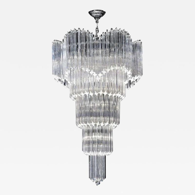 Magnificent Multitier Triedi Crystal Prism Chandelier