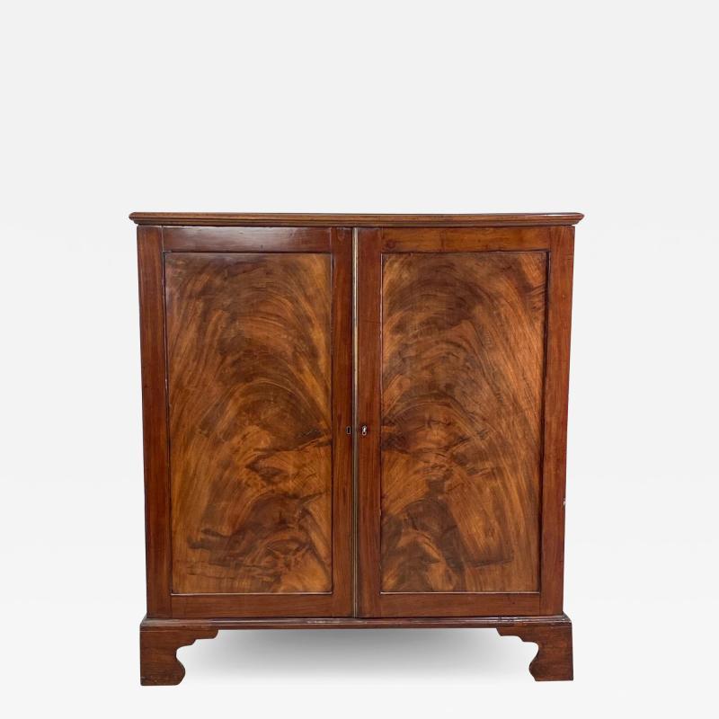 Mahogany 2 Door Cabinet England 19th Century